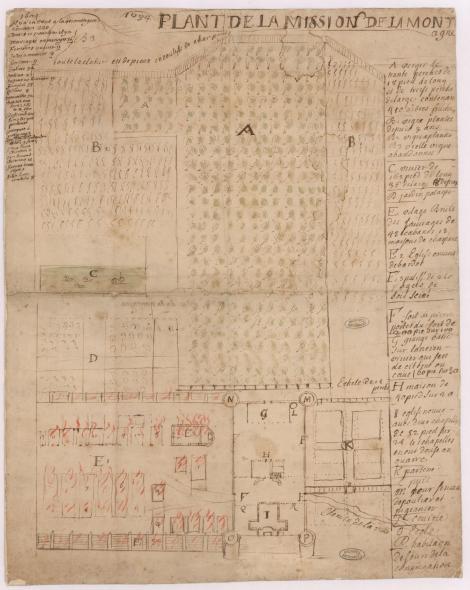 Plant de la mission de la Montagne, 1694